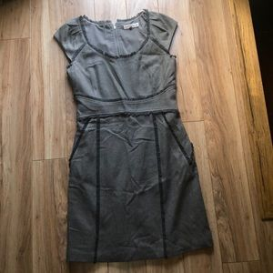 Rebecca Taylor grey fitted dress pencil skirt
